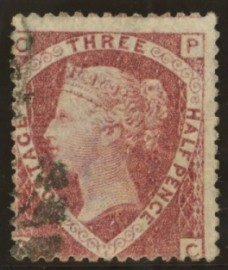 1870 1½d Rose red OP - PC error SG 53