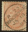 1880 1/- Orange brown SG 163 Plate 13