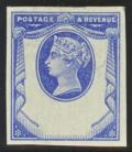 1887 1½d Imperf reply paid essay