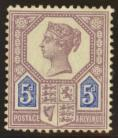 1887 5d Dull purple + blue Die 1 SG 207