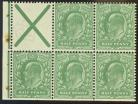 1911 ½d St Andrews cross booklet pane SG 270a