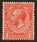 1912 1d Scarlet variety Q for O SG 357a